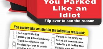 You Parked Like an Idiot card
