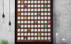 Scratch poster with 100 beers