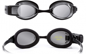 Swim goggles with built in smart display