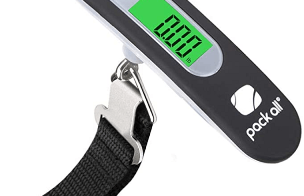 Luggage scale with lcd display