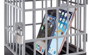 Mobile Phone Jail Cell Prison with iPhones inside
